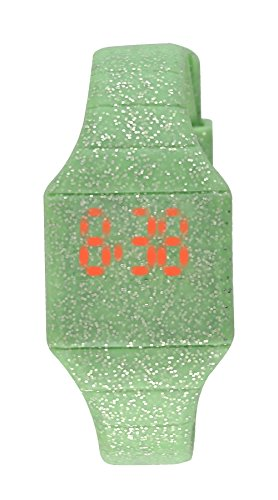 Moulin Girls LED Touch-Activated Glitter Silicone Watch Mint Green #03088.77297