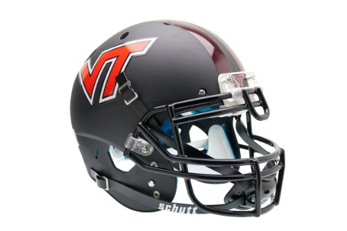 NCAA Virginia Tech Hokies Authentic XP Football Helmet, Matte/Black - Tech Hokies Authentic Football Helmet
