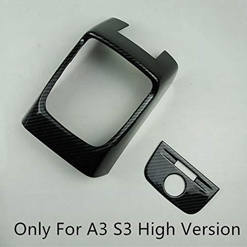 HDCF Car Rear Air Condition Outlet Frame Decoration 2pcs Carbon Fiber Color For A3 8V 2014-18 ABS Anti-kick Cover Decals