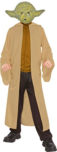 Boys Yoda Kids Child Fancy Dress Party Halloween Costume