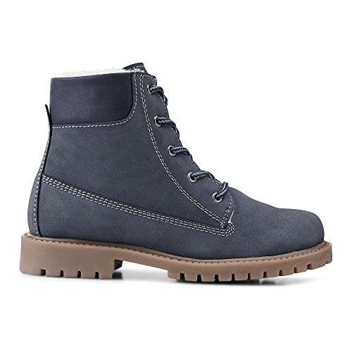skør Kinder (Unisex) Winter-Boots grau-dunkel