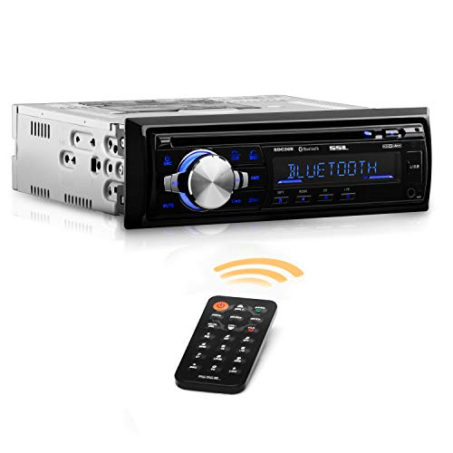 Sound Storm Labs SDC26B Car Stereo CD Player - Single Din  Bluetooth Audio and Hands Free Calling  MP3 Player  CD  USB Port  AUX Input  AMFM Radio Receiver (Best Bluetooth Cd Player For Car)