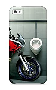 Gary L. Shore's Shop Discount 8298203K78484498 Iphone Cover Case Funny Motorcyclist At Bathroom Compatible With Iphone 5c