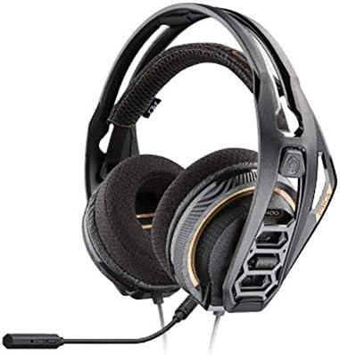 RENKUNDE 聴覚障害を軽減する快適な換気のための調節可能なヘッドバンドイヤークッション付き多機能ヘッドマウントゲームヘッドセット ゲーミングヘッドセット
