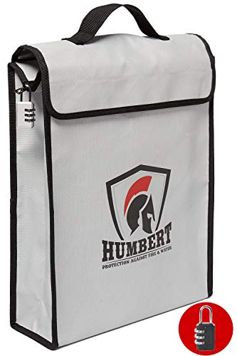 HUMBERT Fireproof Lock Box Bag (16