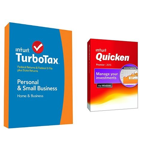 TurboTax Home and Business 2014 and Quicken Premier 2015 Bundle