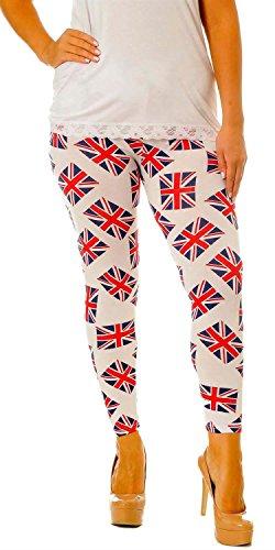 union jack leggings - 7