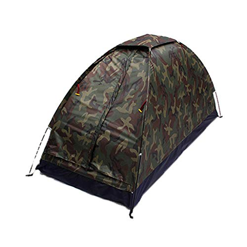 Portable Folding Tent Waterproof Camping Tent Up Quick Shelter Outdoor Hiking (Camouflage)