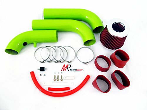 1500 Air Intake Kit (02 03 04 05 06 07 08 Dodge Ram 1500 3.7L V6/4.7L V8 Green Piping Cold Air Intake System Kit with Red)