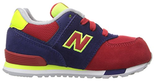 New Balance Unisex-Kinder 574 Cut and Paste Sneakers Mehrfarbig (Navy/red)