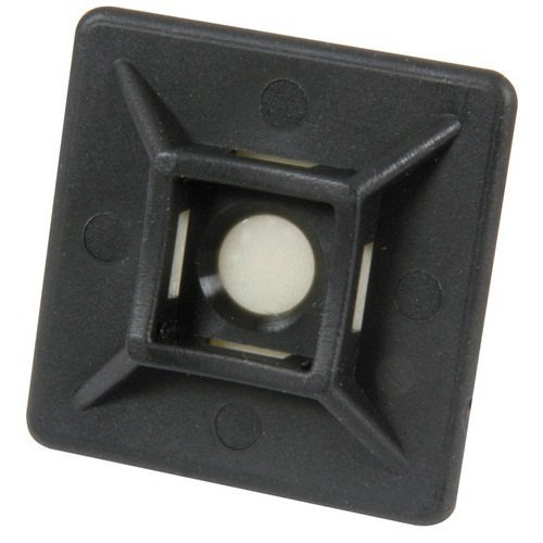 Cable Tie Mounts, Square, (100PK) (1'' Use for 18lb-50lb Cable Ties, Black)