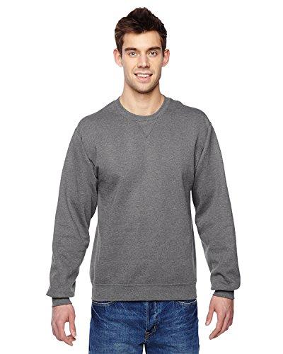 Crew Lightweight Sweatshirt (Fruit of the Loom Best Collection™ Men's Fleece Crew Large Charcoal Heather)