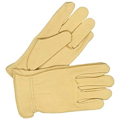 Bob Dale 20-1-365-M Premium Ladies Grain Leather Deerskin Driver Glove, Medium, Tan