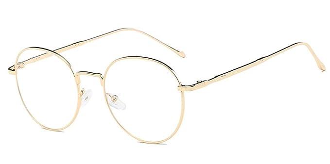 5d2c141e94f9e DAUCO Montura Gafas de Aviador para Unisex Hombre y Mujer con Montura de  Metal-acero Fino Retro Vintage Lente Transparente Visión Clara  Amazon.es  Ropa  y ...