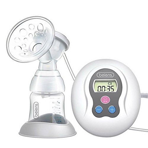 beiens Electric breast pump mute suction large LCD pull milk breastpump