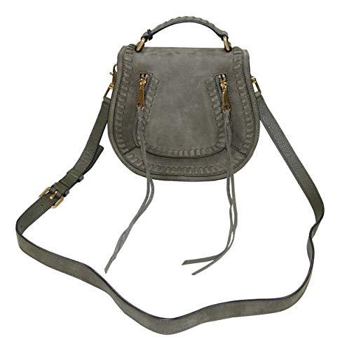 (Rebecca Minkoff Genuine Leather Vanity Saddle Bag Purse (Olive))