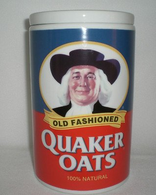 - Quaker Oats Ceramic Cookie Jar 120th Anniversary 1877-1997 Limited Edition