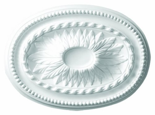 18-1/2'' Decorative Oval Architectural Ceiling Wall Medallion - IWW-592