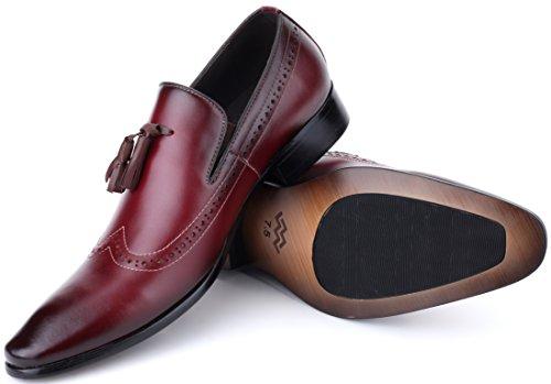 Mens Oxford Shoes Formal Leather Mens Dress Shoes - Men Wedding Shoes in A Bag - Cabernet