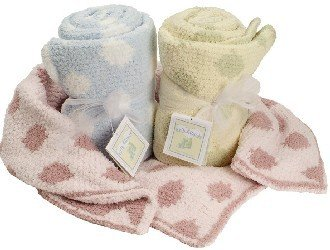 Chenille Polka Dot Blankets (Colorado Clothing Crib Clouds Chunky Chenille Polka Dot Baby Blanket. 2134 - Kiss Pink / White)