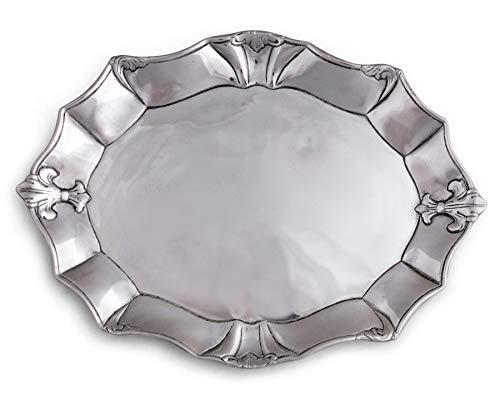 Arthur Court Fleur-De-Lis 19-Inch Oval Platter
