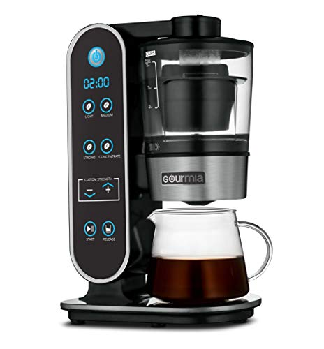Gourmia GCM7800 Brewdini™ Digital Cold Brew Coffee Maker – Vacuum Technology for 2 Minute Cold Brew – 4 Strength Options…