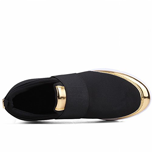 Casual Maglia Moda Scarpe YTTY nero Superficiale Moda Aiutare Scarpe Traspirante Basso per Tondo Oro Bocca Scarpe v1Pq8zv