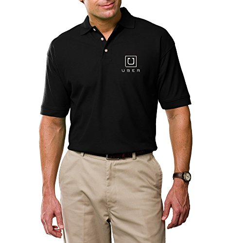 Embroidery Uber Logo Polo Shirt Custom Professional Uber
