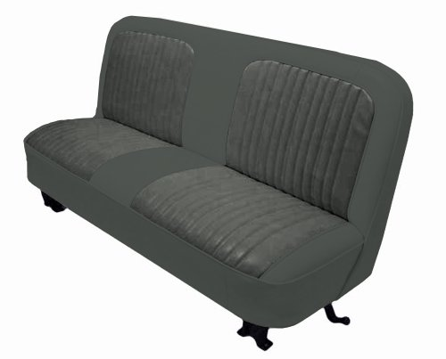 Bench Seat Upholstery (Acme U107-628HR Front Charcoal Vinyl Bench Seat Upholstery with Charcoal Regal Velour Pleated)