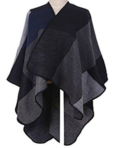 988f4e4f074fc VamJump Women Winter Cashmere Oversized Blanket Poncho Cape Shawl Cardigan  Coat