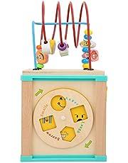 3D Beads Maze Toy, Roller Coaster Treasure Box Wooden Owl Bead Maze Game Juguete educativo para niños