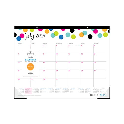 Ampersand for Blue Sky 2019-2020 Academic Year Monthly Desk Pad Calendar, 22