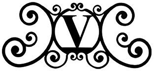 (Wrought Iron House Plaque Letter V)