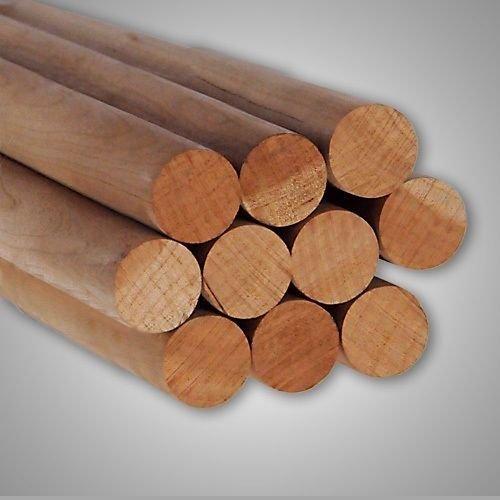 Pack of 10 Round Hardwood Dowel Rods 1-1/8'' Dia x 36'' Long 7318U C.C. Pink