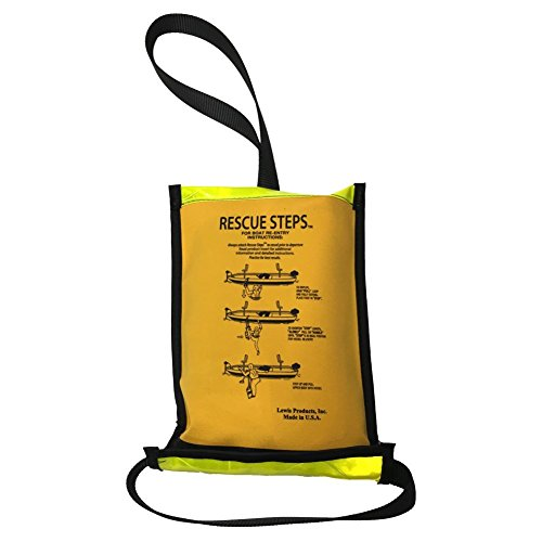 Rescue Steps - For Duck Hunting, Jon Boats, Aluminum Skiff - Permanent or Emergency Ladder, Yellow