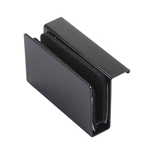 Glass Door Pull, No-Bore, Black