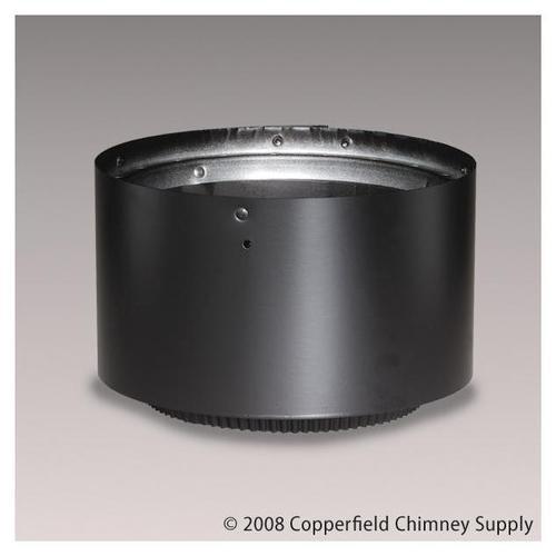 Chimney 69173 8 in. Dura-Vent DVL Adjustable 3 in.-5 in. Double-Wall Black (Double Wall Adjustable Vent)