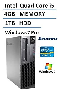2016 Lenovo ThinkCentre M81 High Performance Small Factor Desktop Computer (Intel Quad Core i5 up to 3.4GHz Processor), 4GB DDR3 RAM, 1TB HDD, DVDRW, Windows 7 Professional (Certified Refurbished)