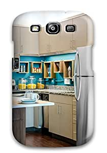 New Style ZippyDoritEduard Hard Case Cover For Galaxy S3- Eclectic Downtown Loft Kitchen