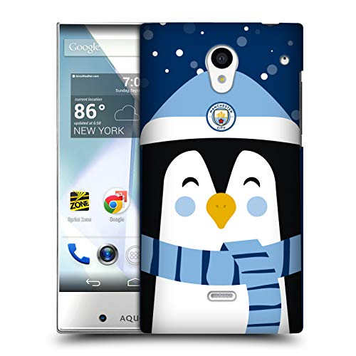 Gre Crystal Simple (Official Manchester City Man City FC Greetings Christmas Hard Back Case Sharp Aquos Crystal 305SH)