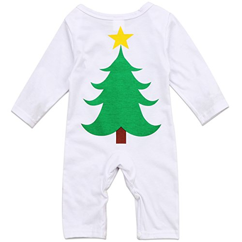 Infant Unisex Baby Boys Girls Cotton Santa Tree Romper Jumpsuit Outfit Best Christmas Gift (12-18 Months, (Girls In Santa Suits)