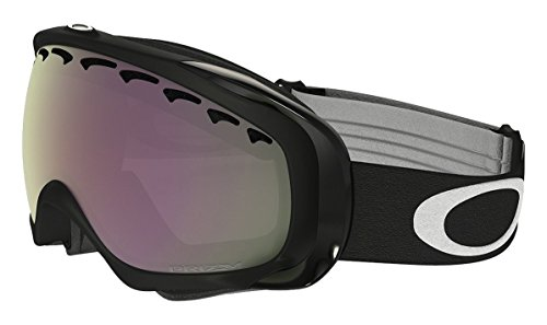 Oakley Crowbar (A) Snow Goggles, Jet Black, Prizm Hi Pink, - Black Lens Crowbar Iridium Oakley