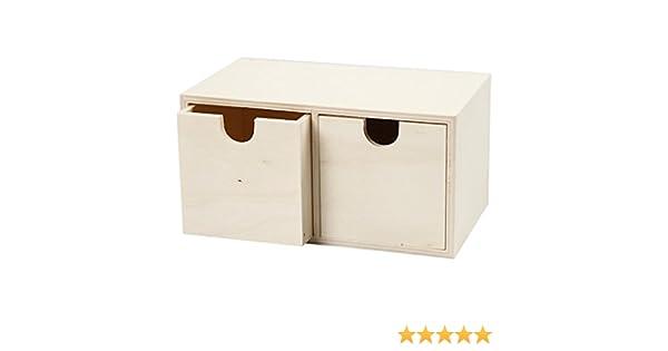 55765 Create Craft - Caja con 2 cajones (madera contrachapada), 1 unidad: Amazon.es: Industria, empresas y ciencia