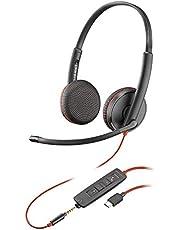 Plantronics Blackwire 3225 USB-C Headset, On-Ear Mono Headset, Wired