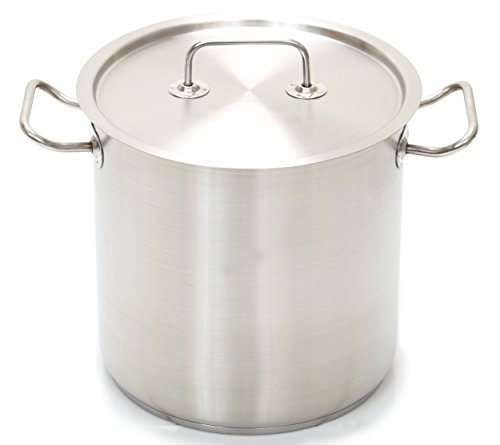 Professional Stainless Steel 53-Quart Stockpot w/ Lid, Heavy (50 Quart Stock Pot)