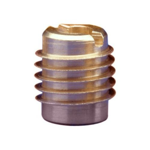 E-Z Lok Threaded Insert, Brass, Knife Thread, 1/4
