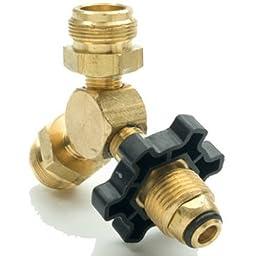 Mr. Heater Propane Y Male Adapter with Handwheel 2-1 by 20 Throwaway Cylinder Threads x P.O.L