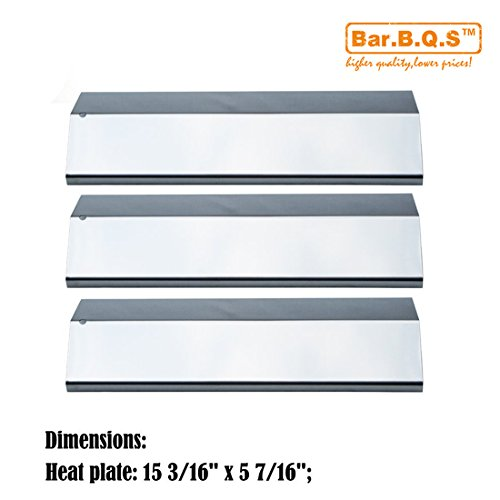 Bar.b.q.s Replacement Tuscany SGR30ML, SGR30M Gas Grill Repair Barbecue Parts 3pack Stainless Steel Heat Plate Heat Shield, Heat Tent, Burner Cover