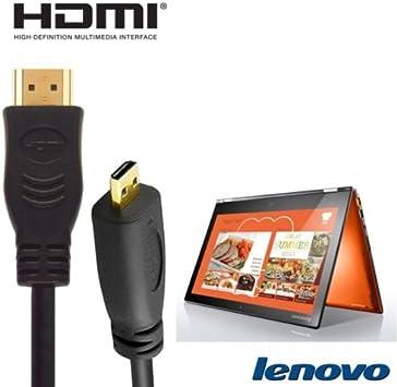 Lenovo Yoga 2, Yoga 3 Pro Laptop HDMI Micro a HDMI TV Cable Lead de alambre largo 2 m: Amazon.es: Electrónica