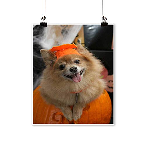 Artwork for Office Decorations Halloween Costume Puppy Canvas Living Room,28